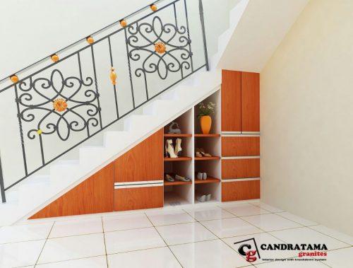 dekorasi lemari tangga custom