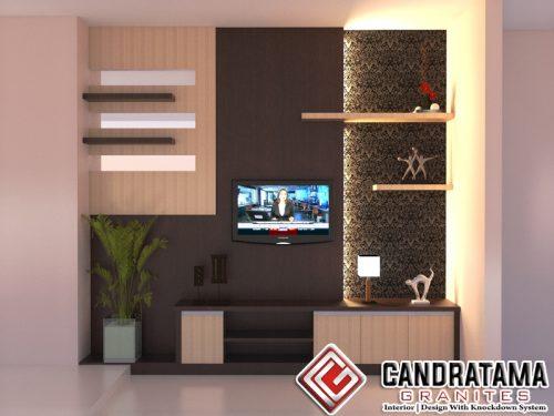 interior backdrop tv tuban