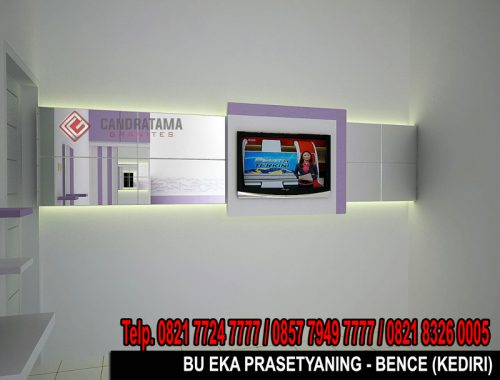 interior backdrop tv trenggalek