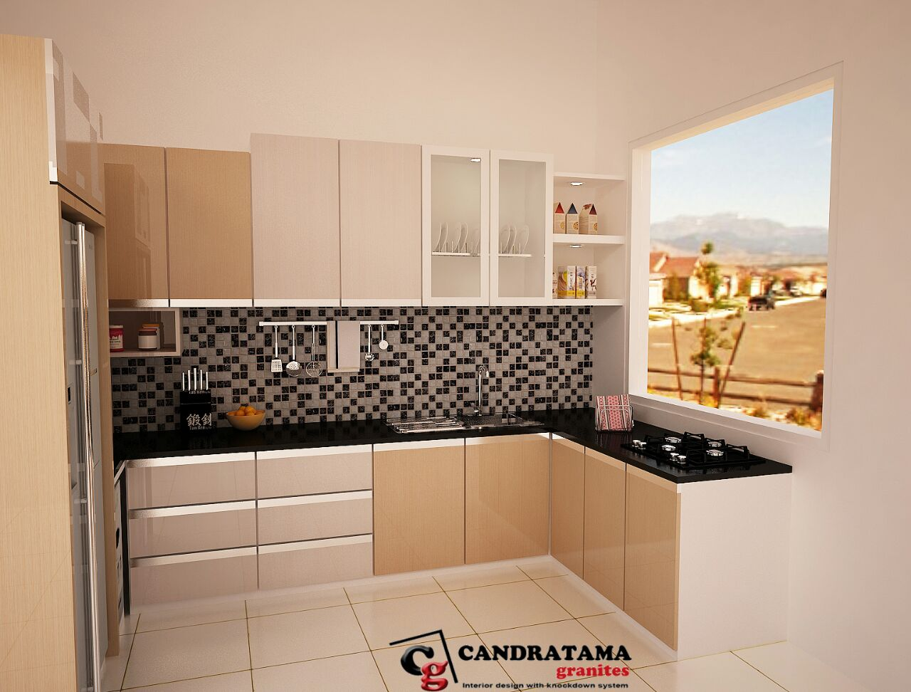Harga kitchen set per meter jasa desain interior kediri for Harga kitchen set stainless per meter