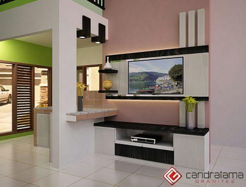 interior backdrop tv sederhana