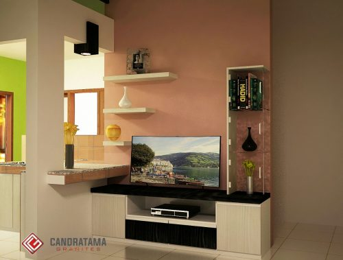 interior backdrop tv batu
