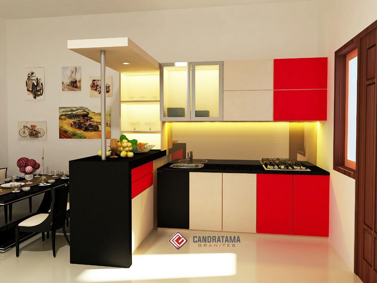 5 piece kitchen set jasa interior dapur kediri desain for Kitchen set surabaya