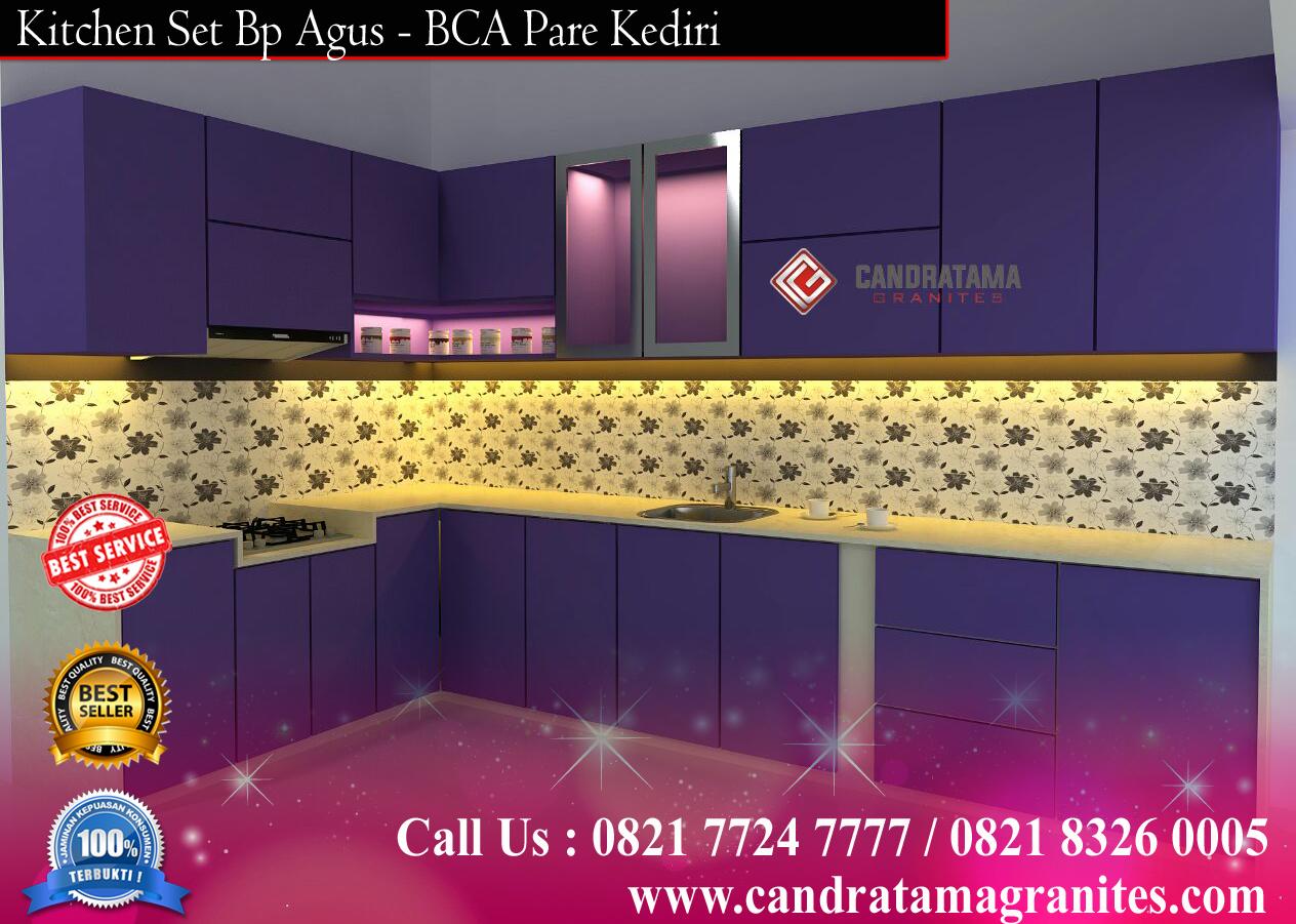 Kitchen set ungu jasa buat kitchen set jasa interior kediri for Jasa buat kitchen set