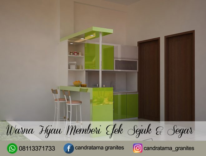 Desain Kitchen Set Hijau Jasa Interior Kitchen Set Minimalis