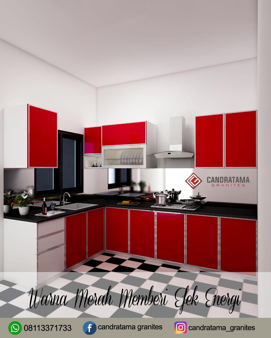 Kitchen Set Warna Orange: Tips Memilih Warna Kitchen Set