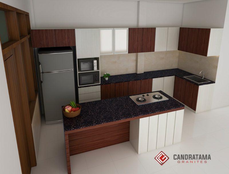 desain kitchen set mewah